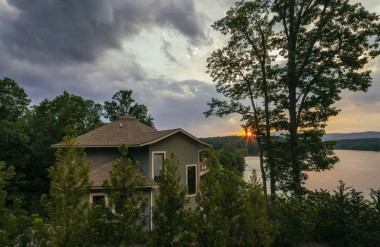 round deltec homes on lake james