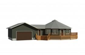 circular prefabricated deltec home