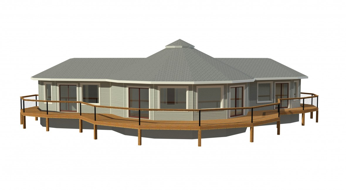 round prefabricated deltec home