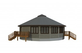 circular prefabricated deltec home