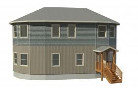 round prefabricated deltec home floor plan