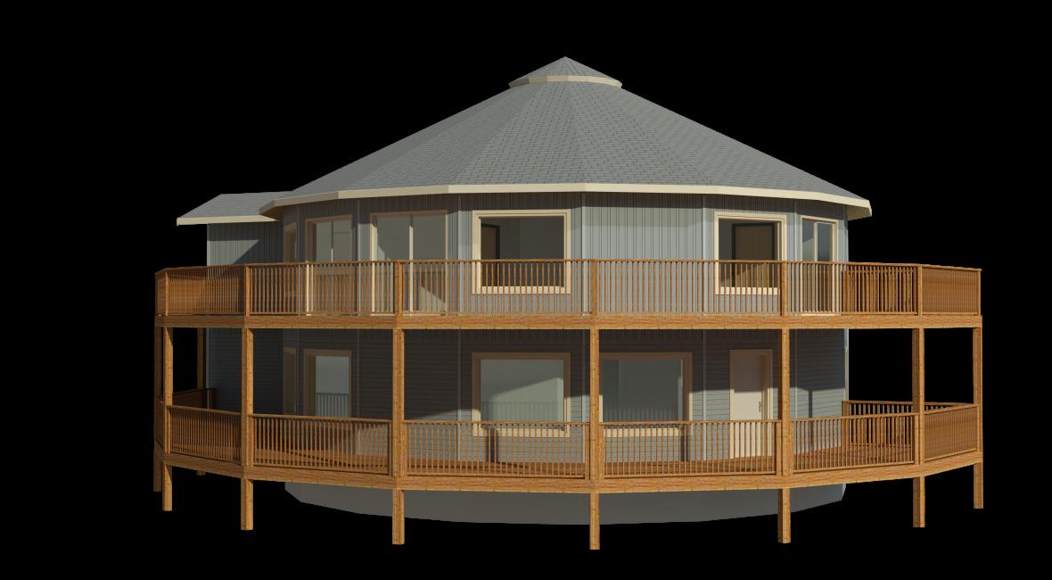 Custom floorplan example 2992 sqft deltec homes for Round home plans