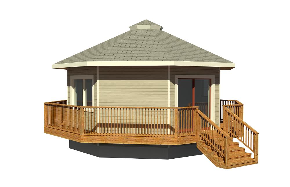 round deltec prefabricated home