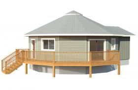 circular deltec prefabricated home