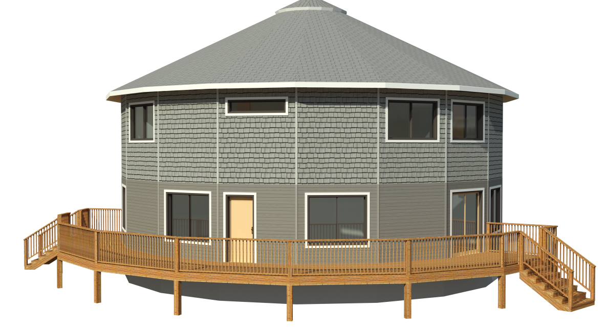 prefabricated circular deltec home