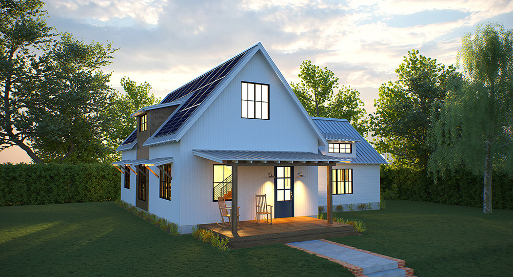 solar farmhouse modern farmhouse net zero deltec homes